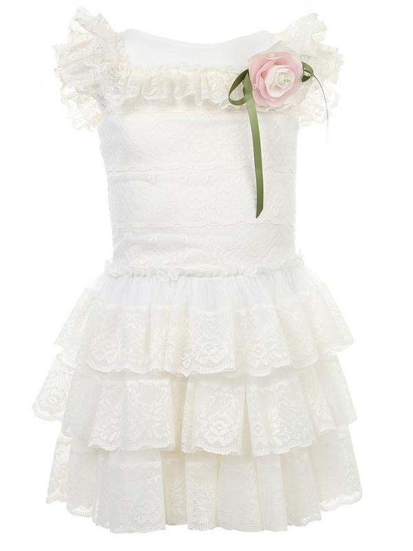Платье Маленькая Леди Бежевый р.104