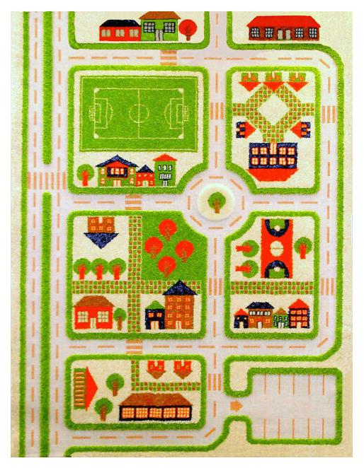 Детский игровой 3D-ковер IVI Трафик зеленый 160 х 230 см
