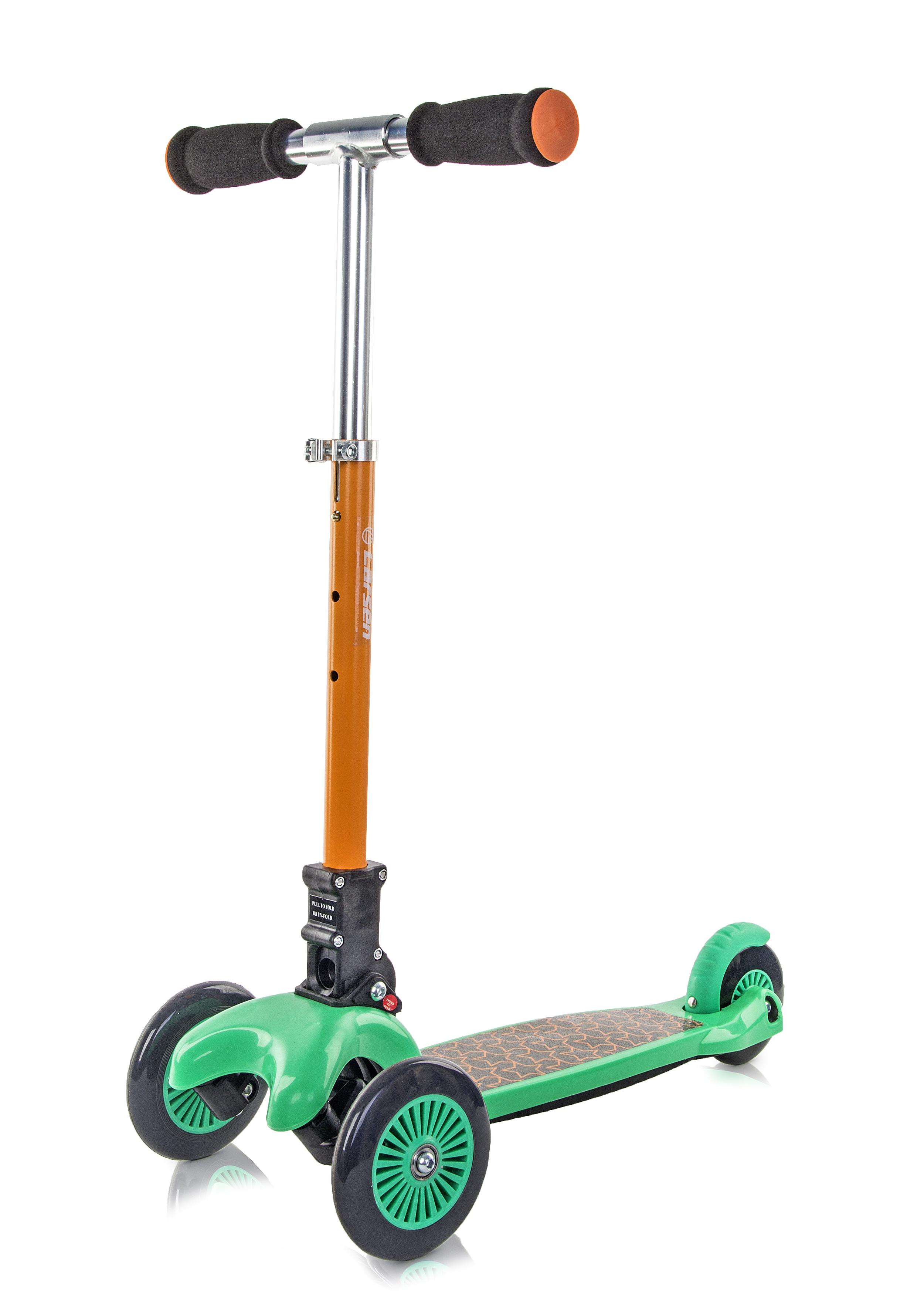 Самокат Larsen Smart 2 зеленый/оранжевый