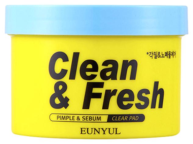 EUNYUL Очищающие диски EUNYUL Clean & Fresh Pimple & Sebum Clear Pad с кислотами, 170 мл, фото