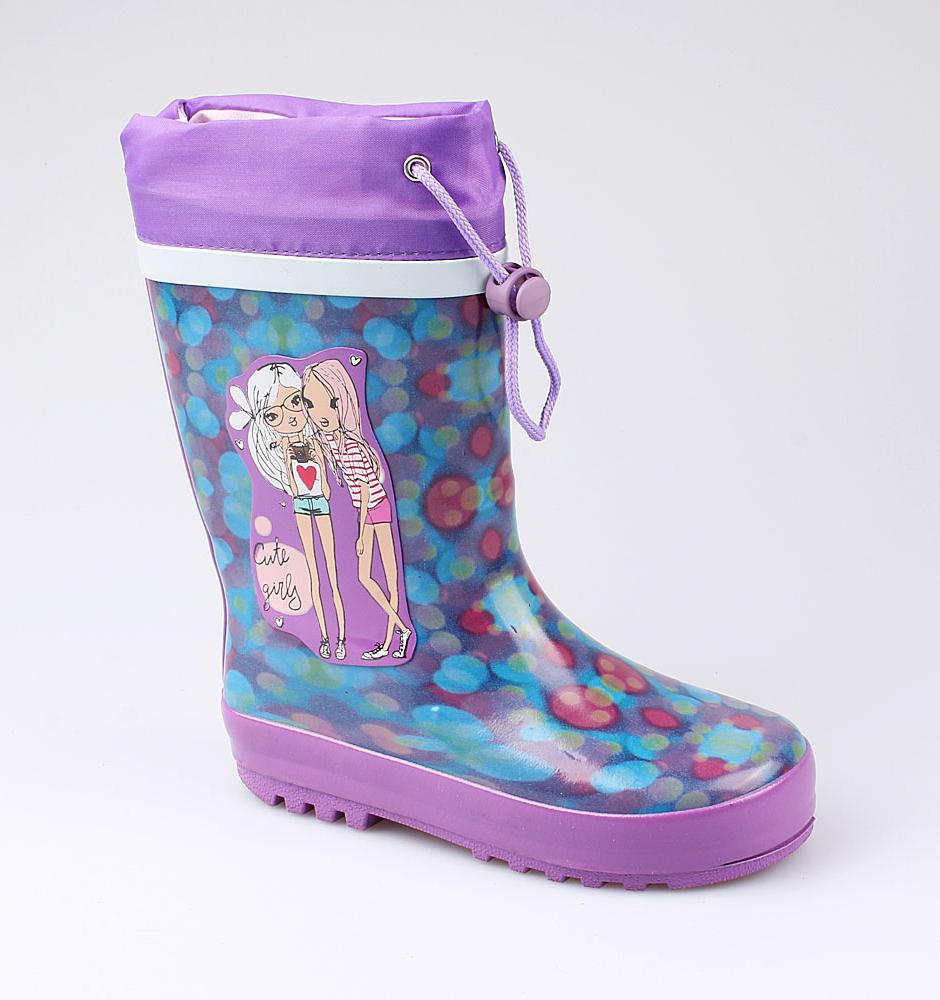 Резиновая обувь Котофей 566154-11 для девочек р.32