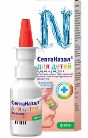 СептаНазал спрей 0,05 мг+5 мг 10 мл 100 доз