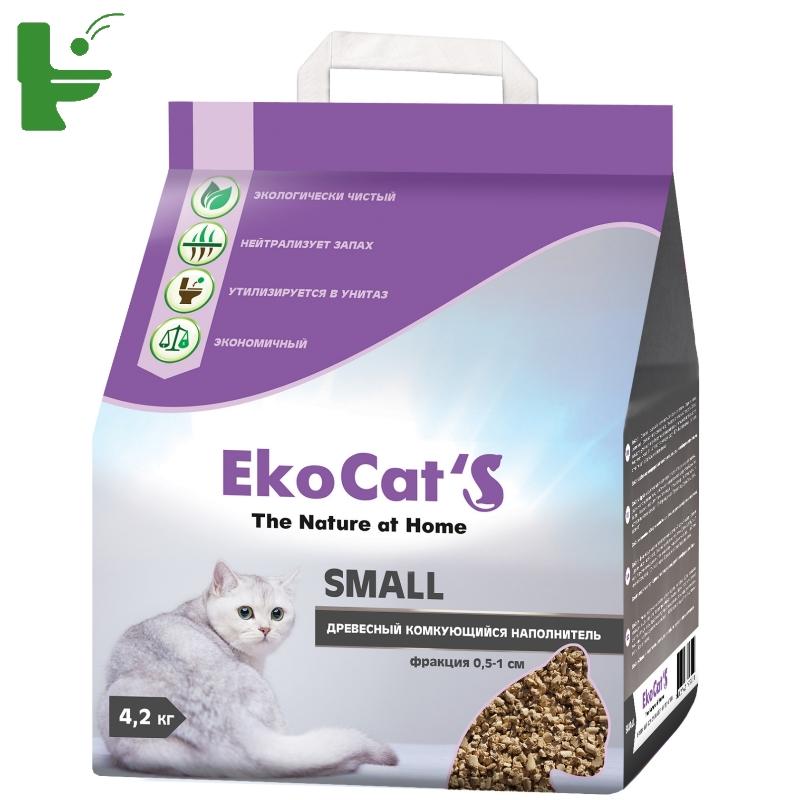 Наполнитель Eko Cat`s Small древесный комкующийся 10л