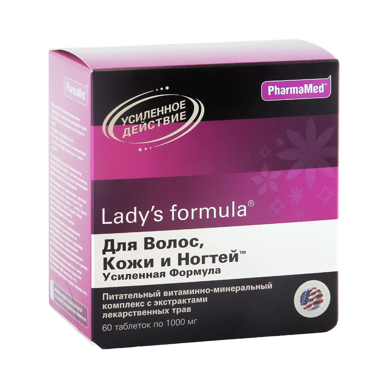 Ladys formula PharmaMed для волос кожи и ногтей усиленная формула таблетки 60 шт.