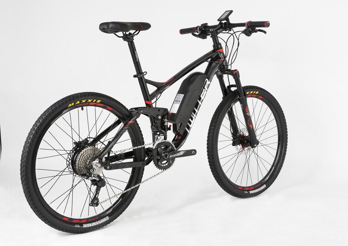 Электровелосипед Twitter TW-E9W черно-красный