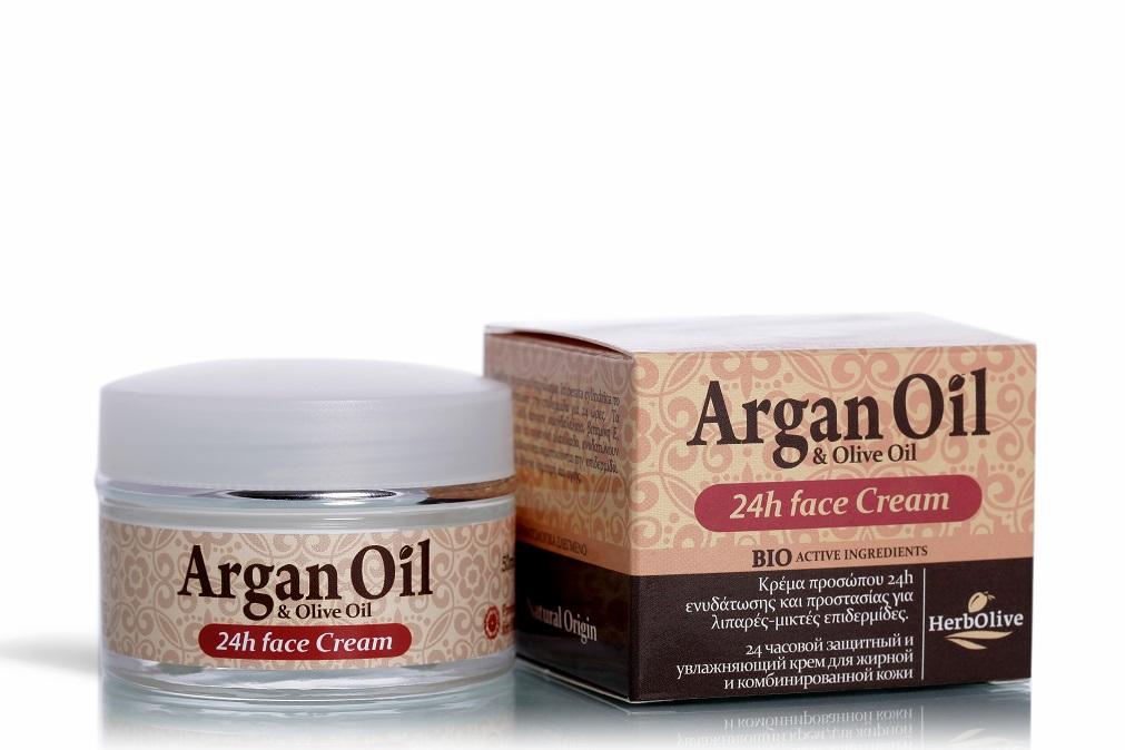 Крем для лица Arganoil уход 24ч для жирной и комбинированной кожи 50 мл