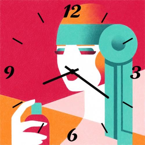 Часы настенные SvS 4001762 Женщина с флаконом