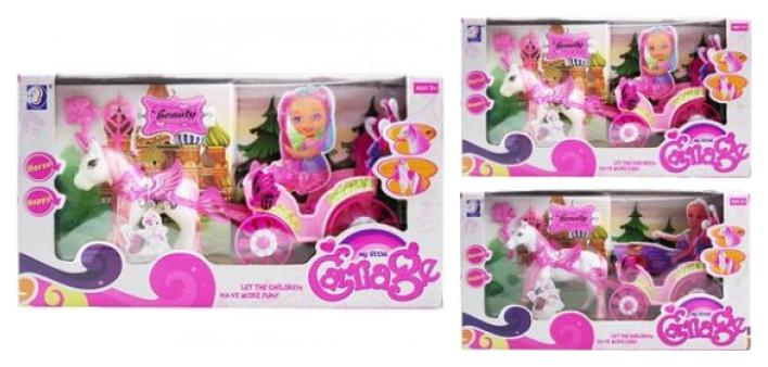 Транспорт для кукол Наша игрушка Карета летняя
