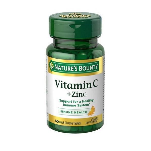 Нэйчес Баунти Витамин С плюс Цинк таблетки 750 мг 60 шт.