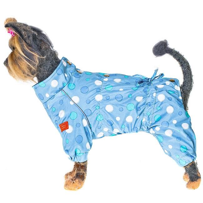 Комбинезон для собак HAPPY PUPPY Конфетти голубой-3 28см