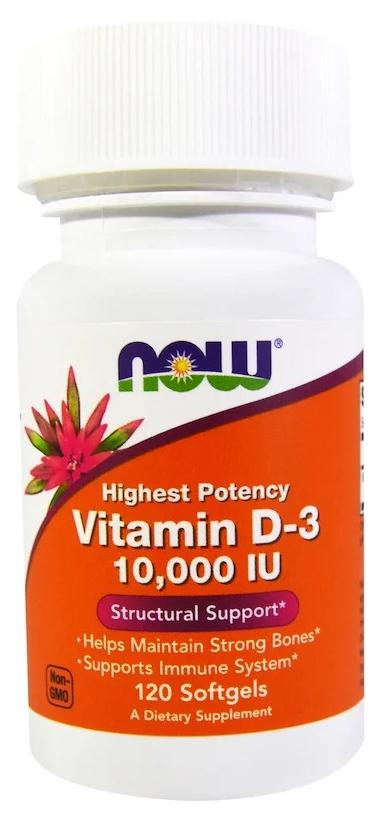 Купить Витамин D NOW Vitamin D-3 10000 Me 120 капс.