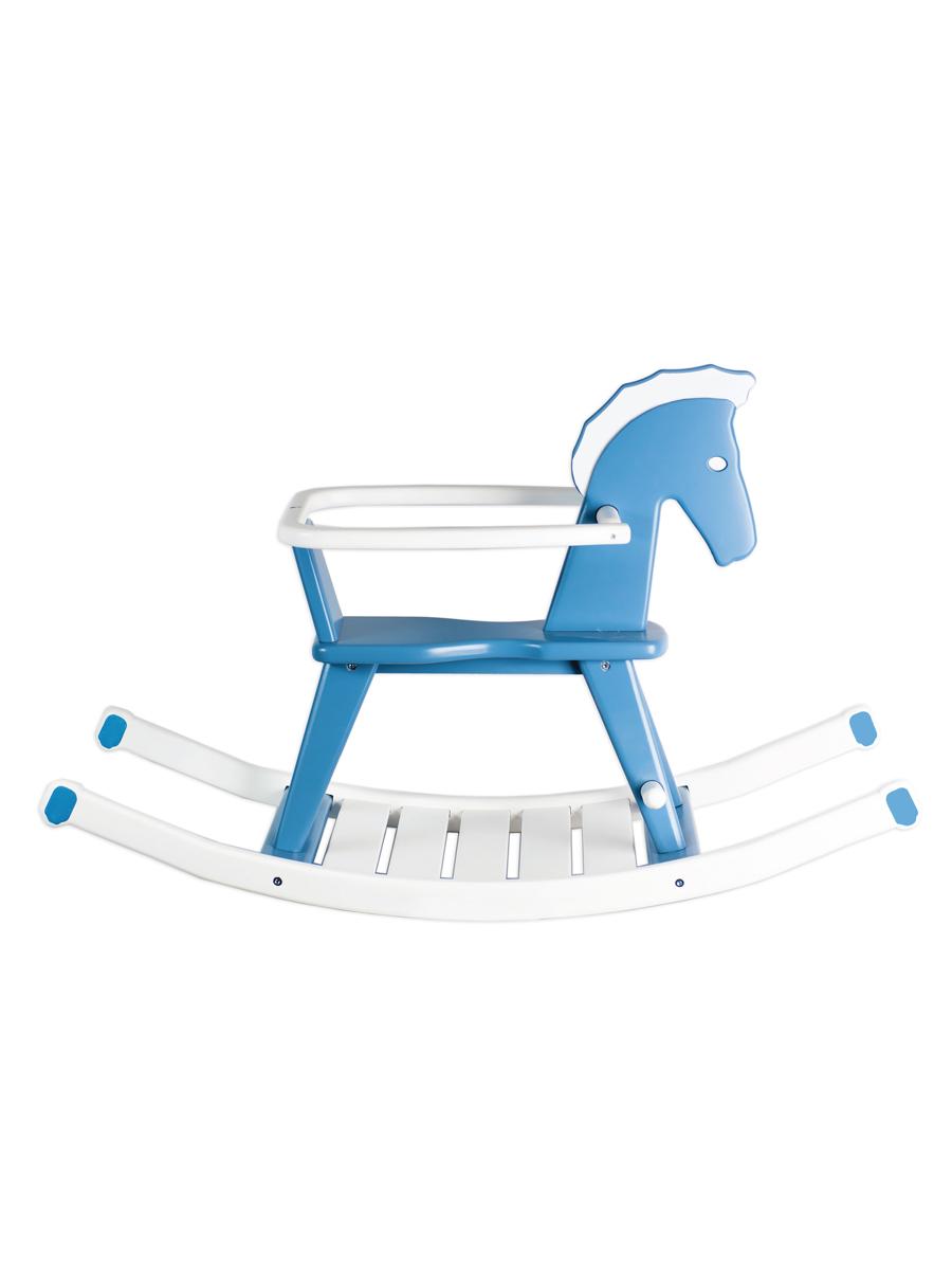 Купить Детская качалка ContinentDECOR лошадка голубой, Continent Decor, Качалки детские