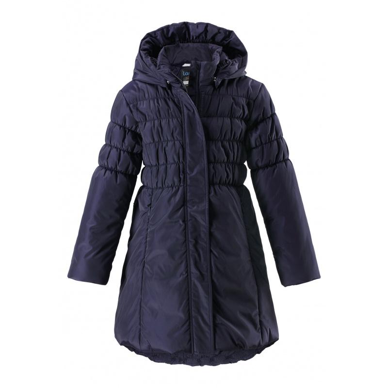 Купить 721738-6950, Пальто LASSIE by REIMA темно-синий р.128, Пальто для девочек