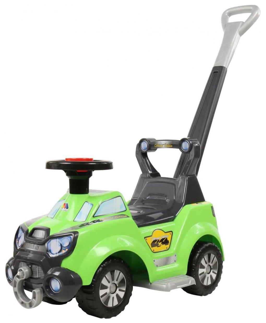 Машина-каталка Полесье Sokol с ручкой и подножкой Зеленый