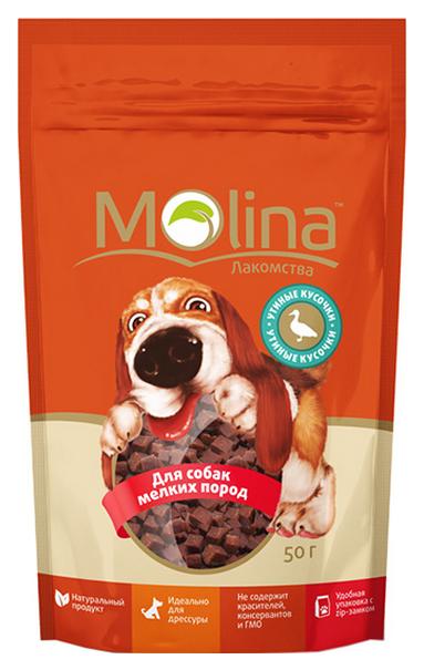 Лакомство для собак Molina Утиные кусочки 50 г