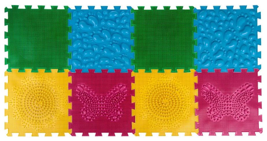 Купить Коврик массажный модульный ОРТО коврик-пазл Микс Первые Шаги, Leader, Развивающие коврики и центры