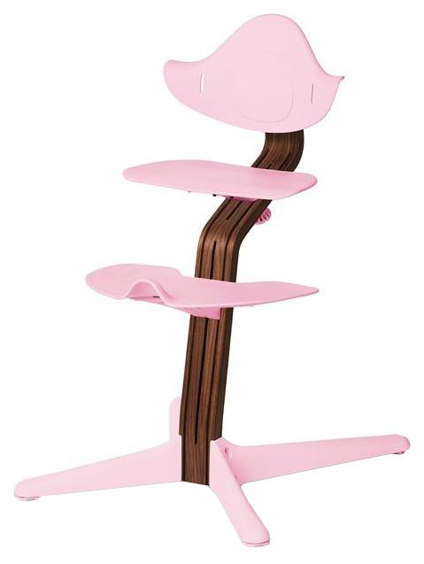 Детский регулируемый стул Evomove NOMI розовый, орех