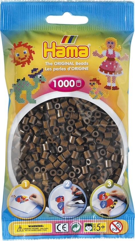 Бусинки MIDI 1000шт. коричневые Hama 207 12