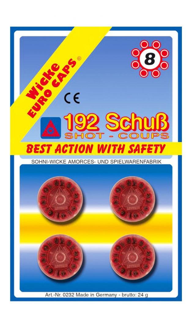 Пистоны Sohni Wicke 8 зарядные 192