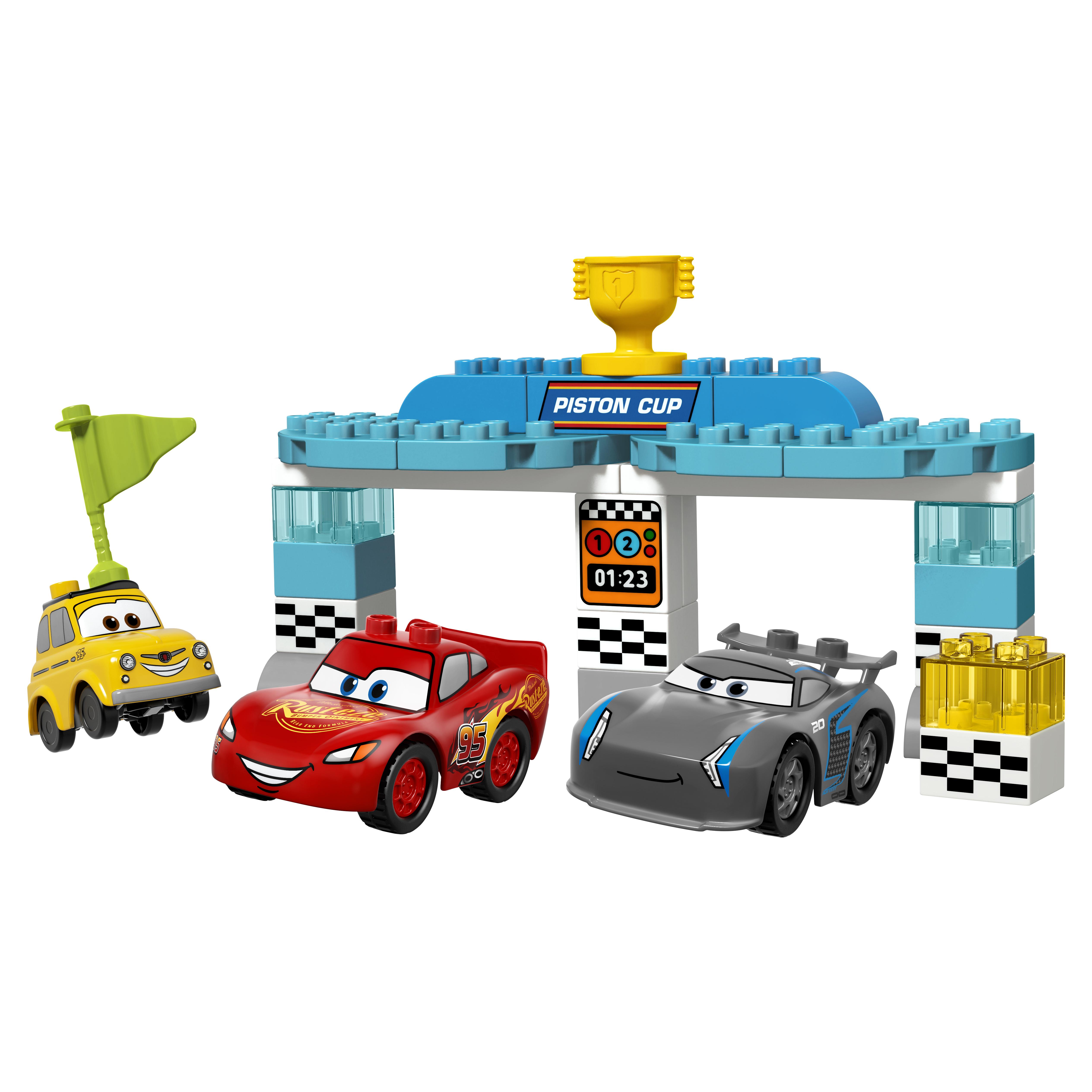 Купить Конструктор lego duplo cars гонка за кубок поршня (10857), Конструктор LEGO Duplo Cars Гонка за Кубок Поршня (10857)