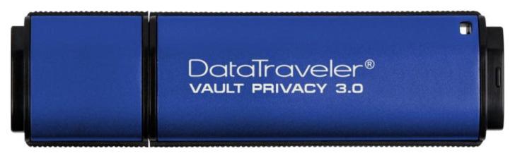 USB-флешка Kingston DataTraveler Vault Privacy 3.0 32GB Blue (DTVP30/32GB) фото