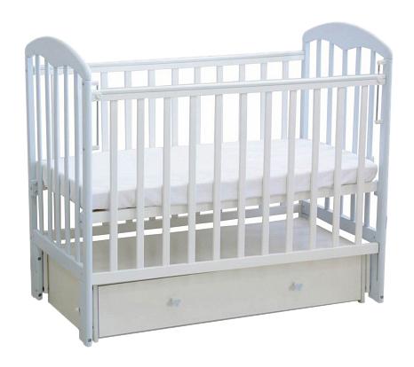 Кровать-маятник детская Фея 328 Белая-Лазурь