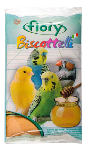 Лакомства для птиц fiory бисквиты с медом,