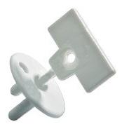 Купить Белые 8 шт, Заглушка для розеток Safety 1st С Ключом Белый,
