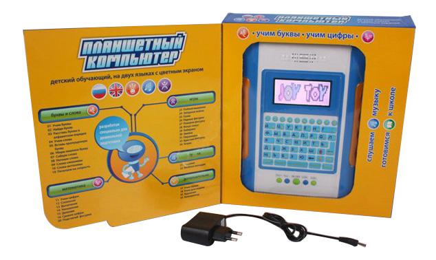 Интерактивная игрушка Joy Toy Детский обучающий компьютер-планшет русско-английский фото