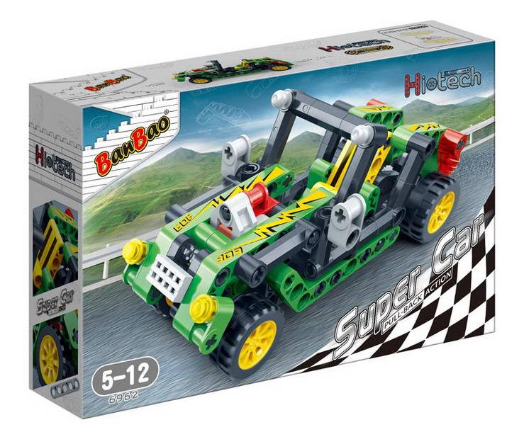 Конструктор пластиковый BanBao Гоночная машина зеленая фото