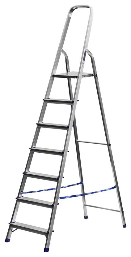 Лестница стремянка СИБИН алюминиевая, 7 ступеней, 145 см