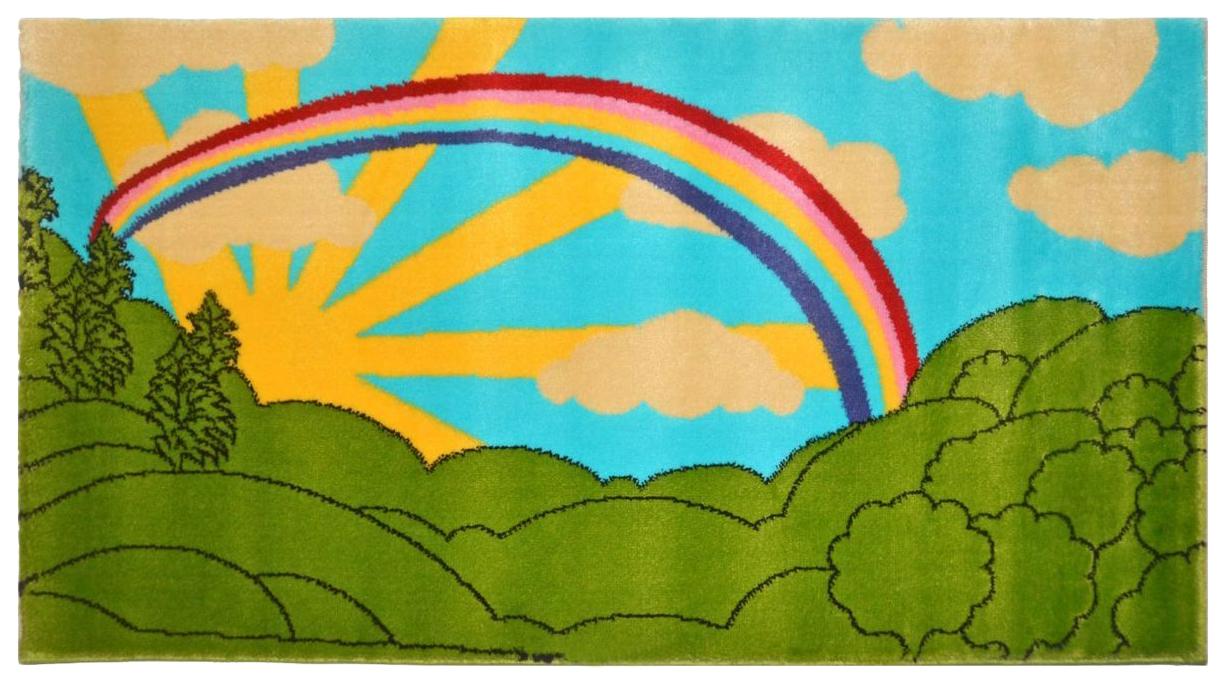 Ковер детский Kamalak tekstil зеленый+голубой 100х150 УКД-2052