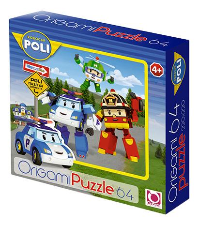 Купить Robocar Poli, Пазл Origami 64 детали,