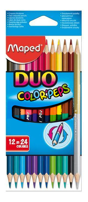 Купить Color Peps, Карандаши цвет.COLOR'PEPS DUO, двусторон.наб.12шт/24цв.MAPED
