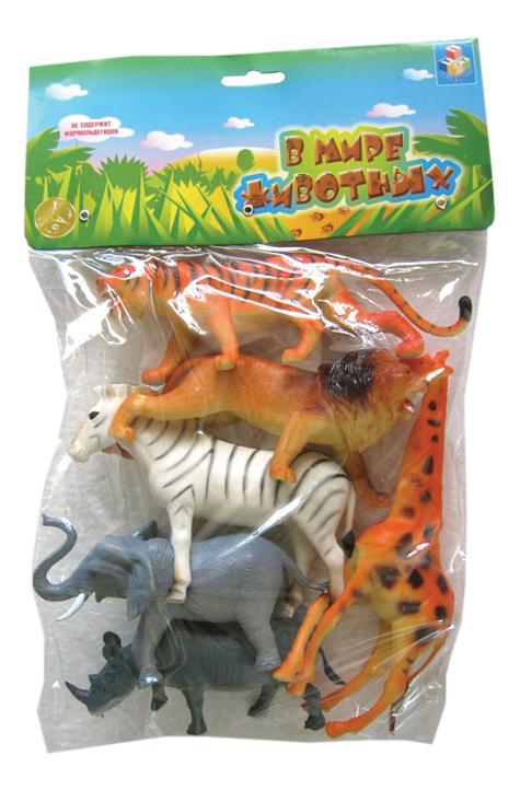 Игровой набор животных 1TOY В мире животных 6 шт. фото