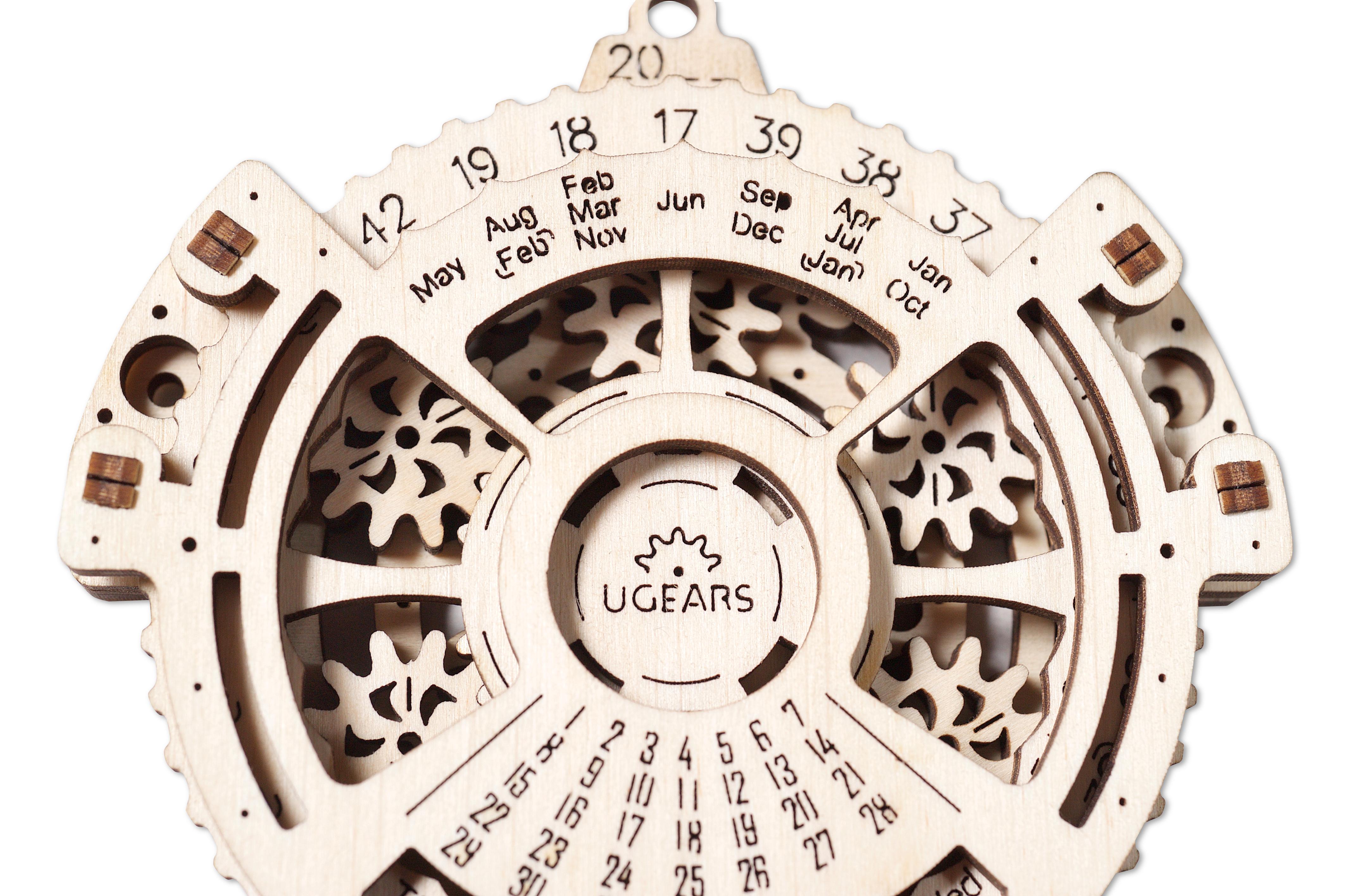 Навигатор дат, Сборная модель конструктор UGEARS Навигатор Дат, Деревянные конструкторы  - купить со скидкой