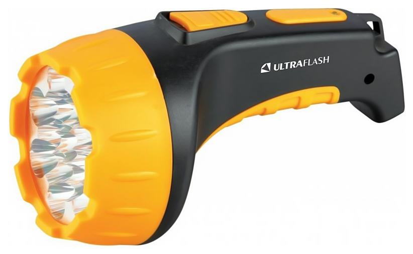 Туристический фонарь Camelion Ultraflash Akku Profi LED3815 желтый/черный, 2 режима