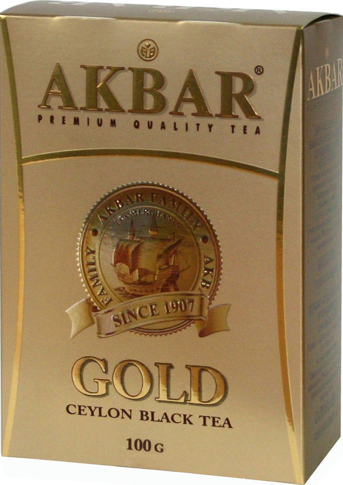 Чай черный Akbar gold 100 г фото