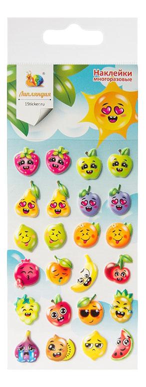 Наклейка декоративная для детской комнаты Липляндия Смайлы. Фрукты