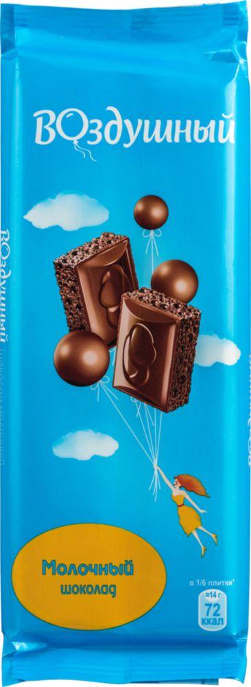Шоколад молочный Воздушный пористый 85 г фото
