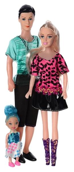 Купить Кукла Набор семья 3 шт Д81755, Gratwest, Классические куклы