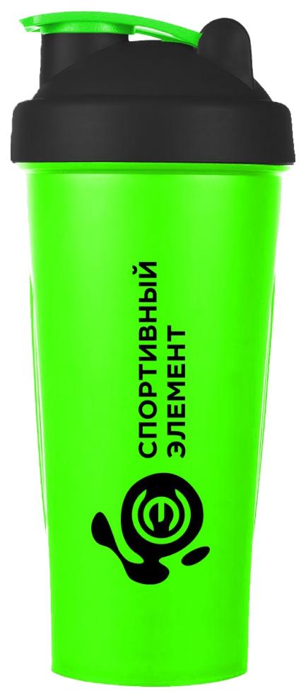Шейкер Спортивный элемент Агат 1 кам. 600 мл зеленый