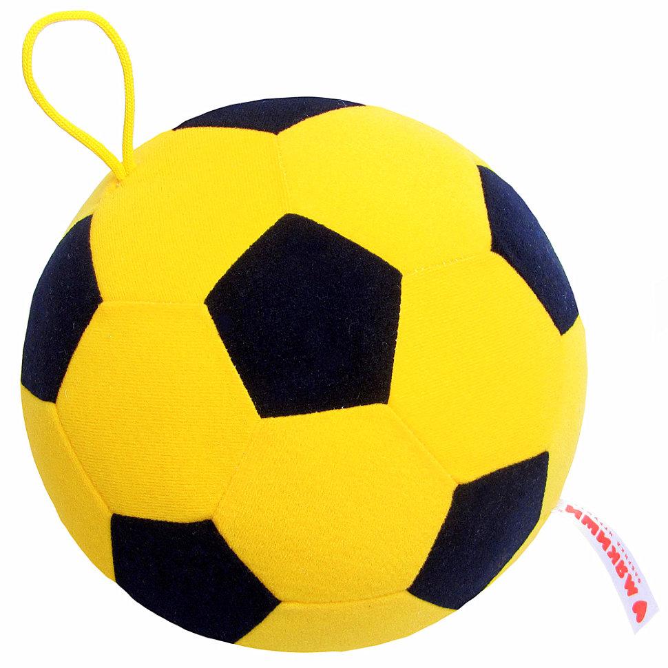 Купить Игрушка-антистресс Мякиши Футбольный мяч желто-черный, Мягкие игрушки антистресс