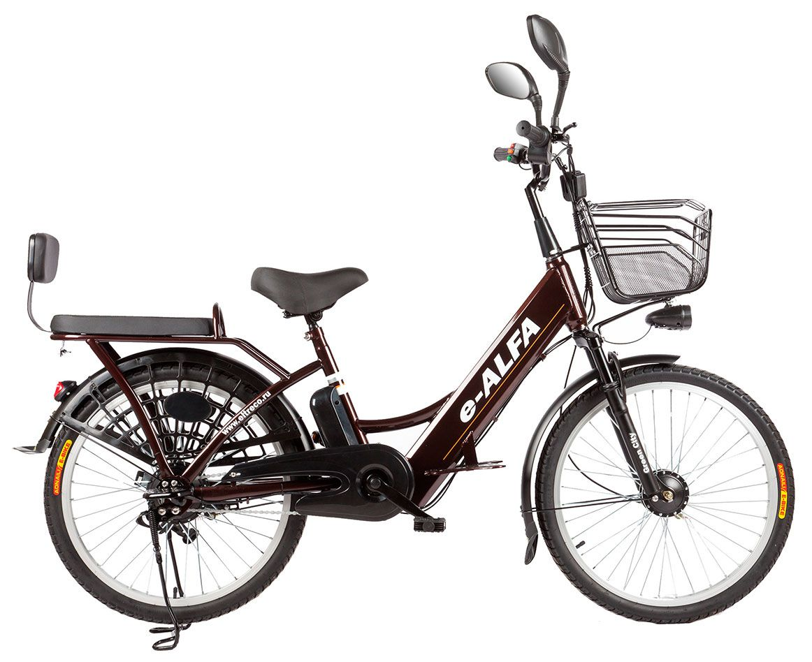 "Электровелосипед Eltreco e-ALFA 2018 18.5"" коричневый"