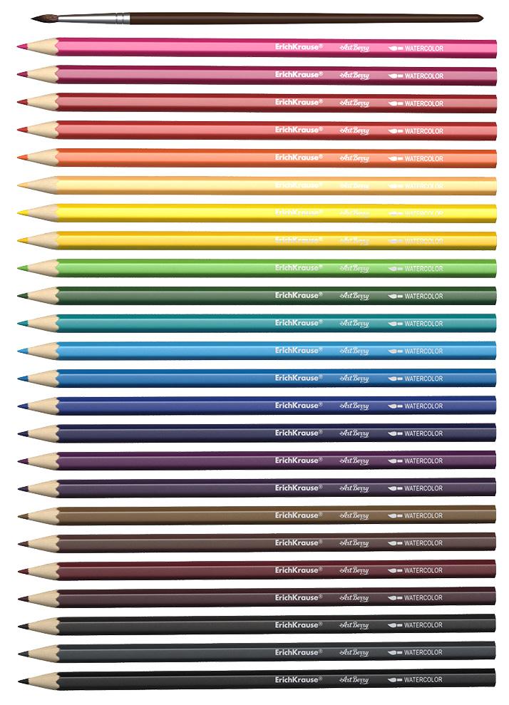 Купить Акварельные 24 цвета, Карандаши цветные Erich Krause Акварельные 24 цвета, ErichKrause
