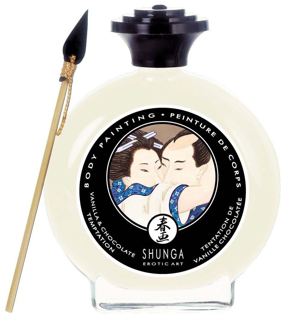 Декоративная крем-краска для тела Shunga с ароматом шоколада и ванили фото