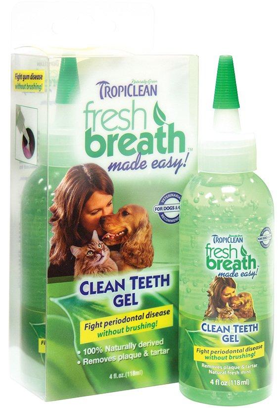 Зубной гель для собак и кошек TropiClean Свежее