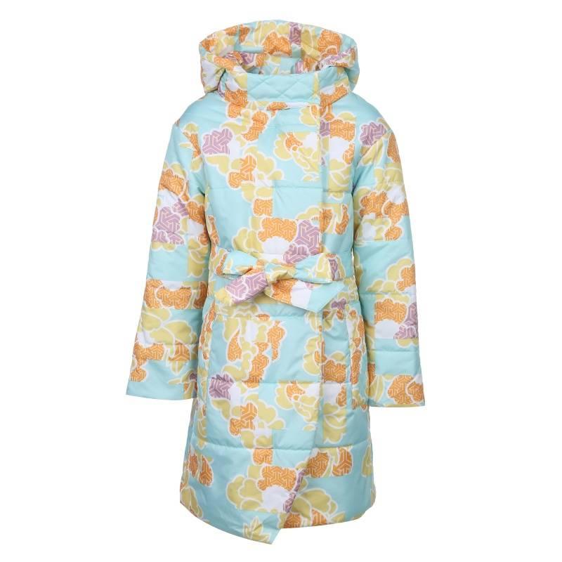 640, Пальто Каори Emson, цв. голубой, 128 р-р, Пальто для девочек  - купить со скидкой
