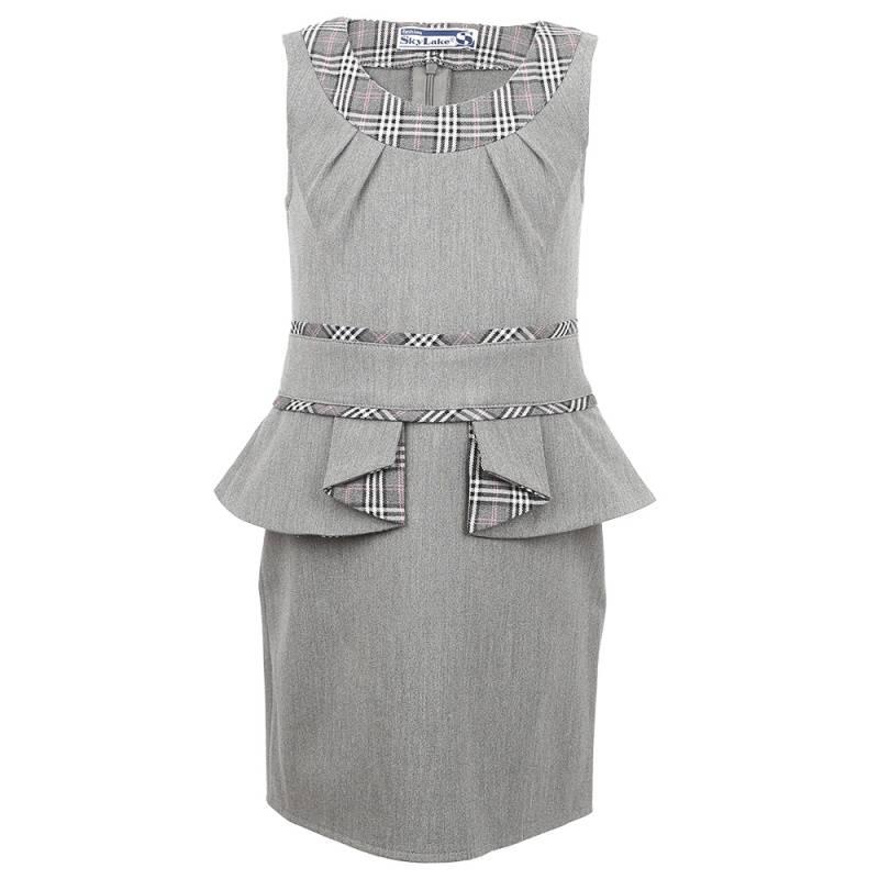 Купить Сарафан SkyLake, цв. серый, 128 р-р, Детские платья и сарафаны