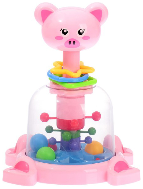 Купить Развивающая игрушка Sima-Land Юла - карусель Забавные зверюшки 3671464, Развивающие игрушки